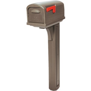 Solar Group Solar Group CL10000M Classic Mailbox & Post-MOCHA CL MAILBOX & POST