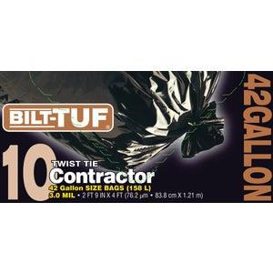Presto Products Bilt-Tuf 42 Gallon Black Contractor Trash Bag-42G/10CT CONTRACTOR BAG at Sears.com