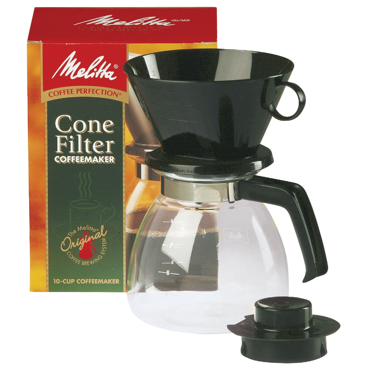 Coffee Makers That Use Cone Filters : Melitta Gourmet 10 Cup Manual Coffeemaker-DRIP CONE COFFEE MAKER 55437640619 eBay