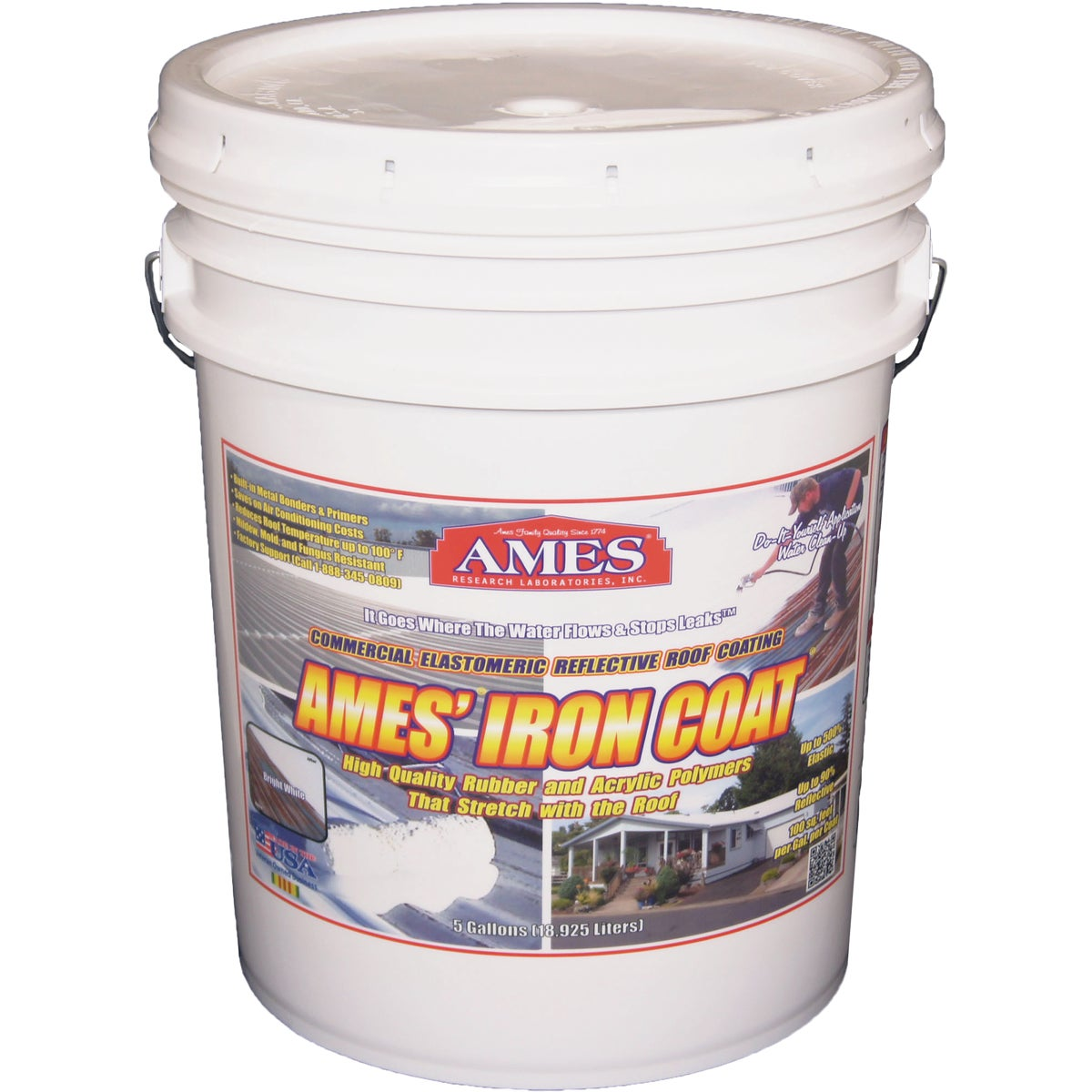 Ames Iron Coat Elastomeric Roof Coating