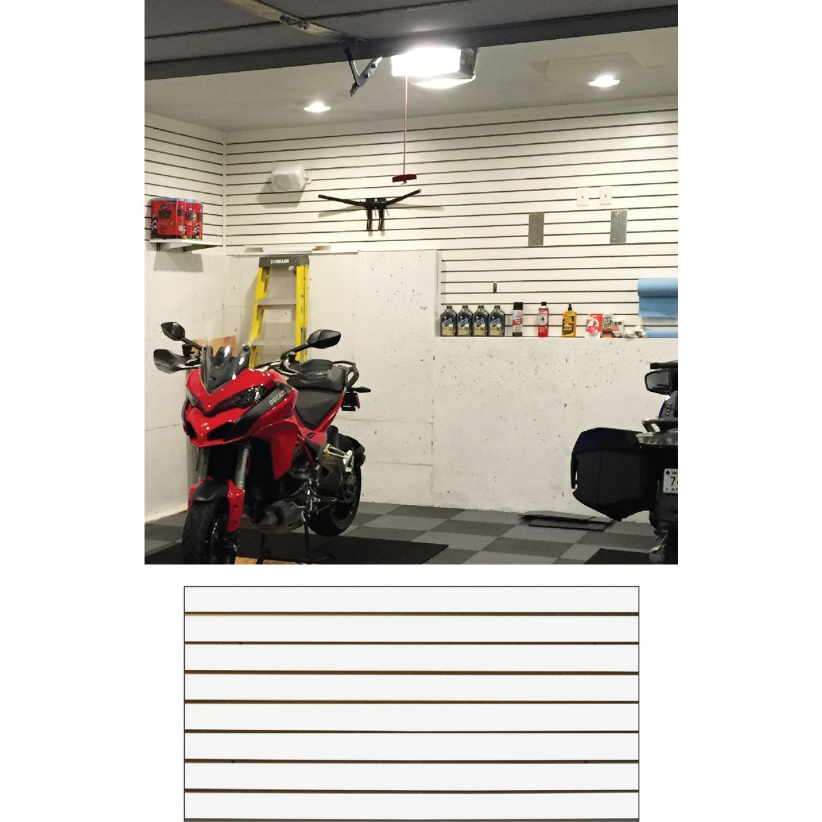 2X4 WHITE SLATWALL - MWHI HP2X4 by Garage Escape