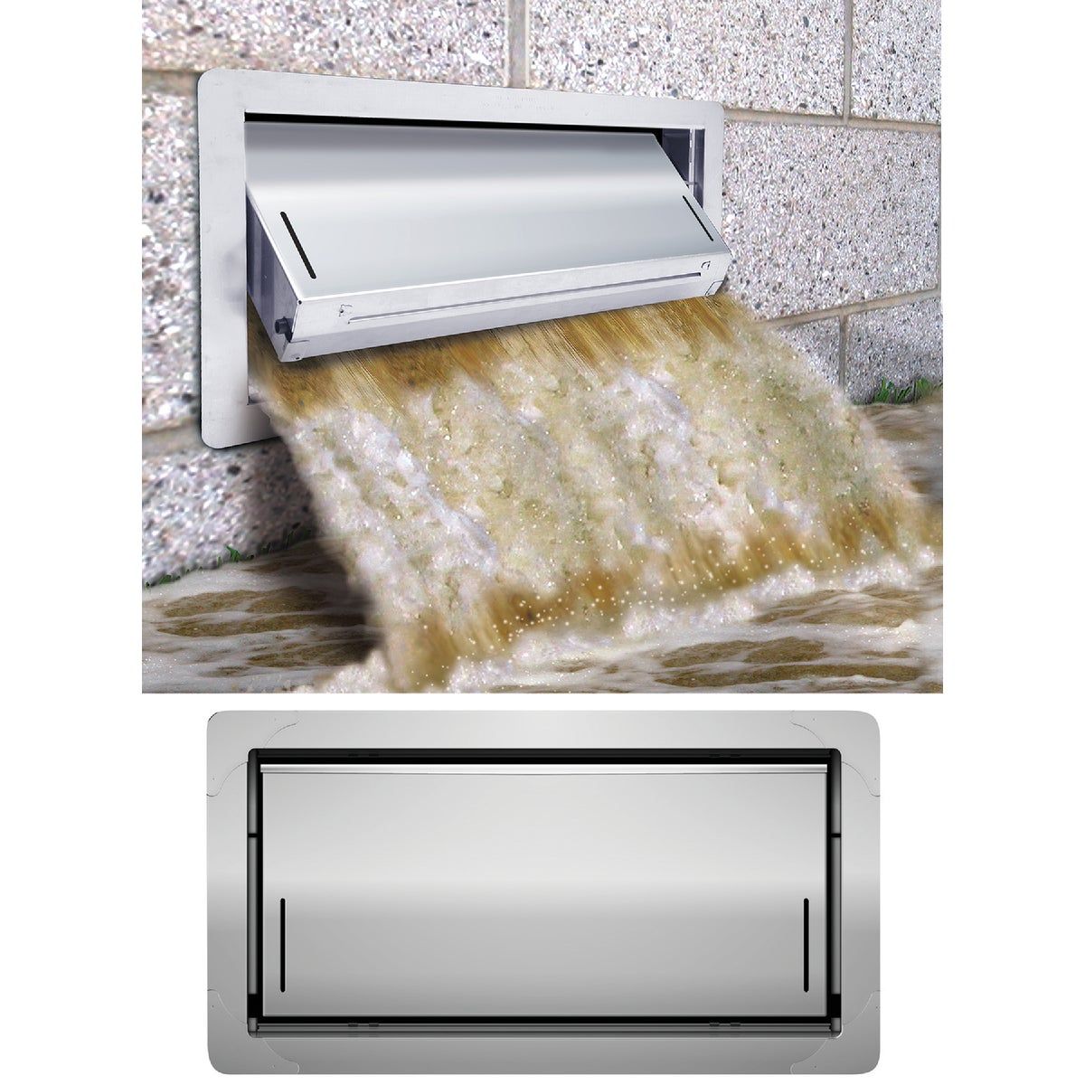 16X8 FLOOD FNDT VENT - 1540-520 by SmartVENT Products