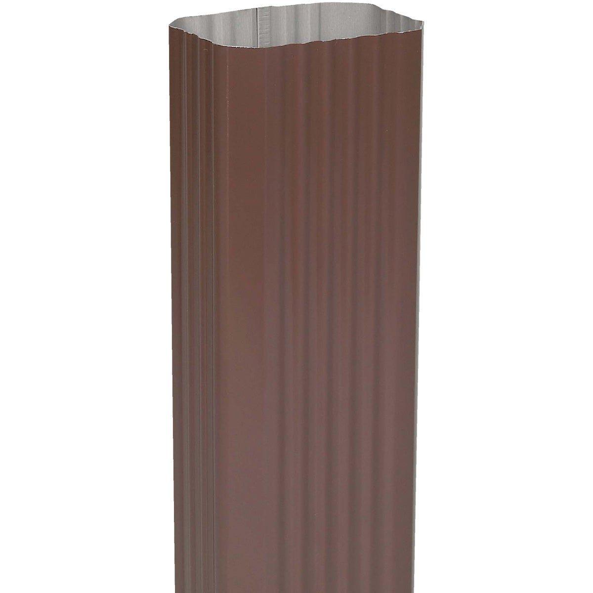 2X3 BROWN ALUM DOWNSPOUT - 2401019120 by Amerimax Home Prod