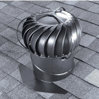 Airhawk 12 In. Aluminum Externally Braced Wind Turbine Attic Vent, TOBS0G00