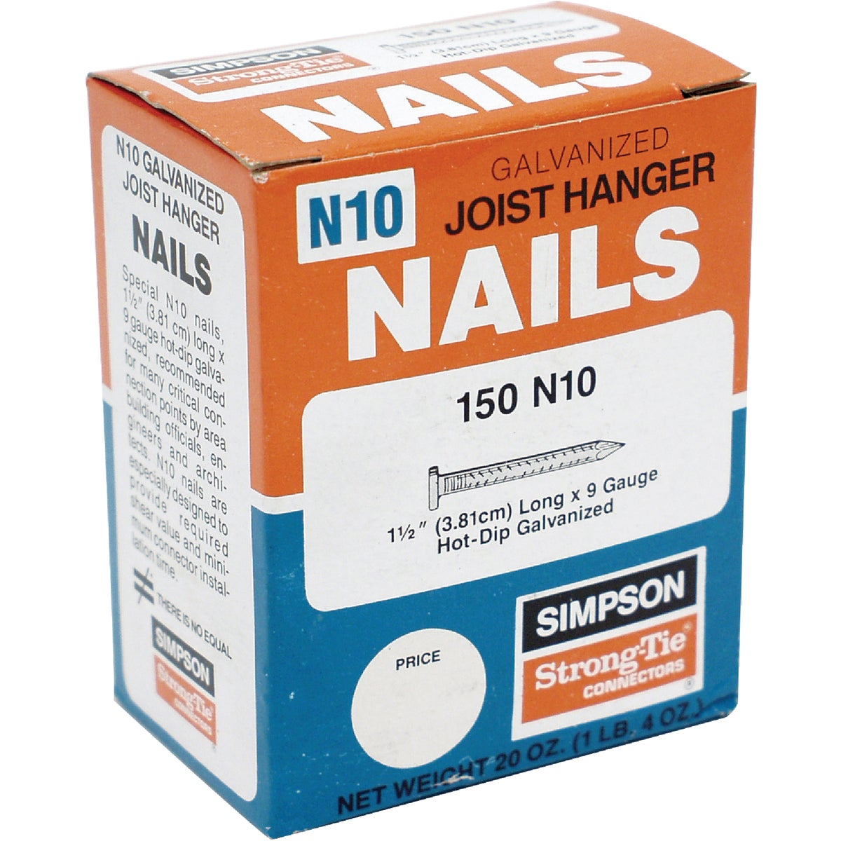 Simpson Strong-Tie 50LB 10DX1-1/2 HDG NAILS N10