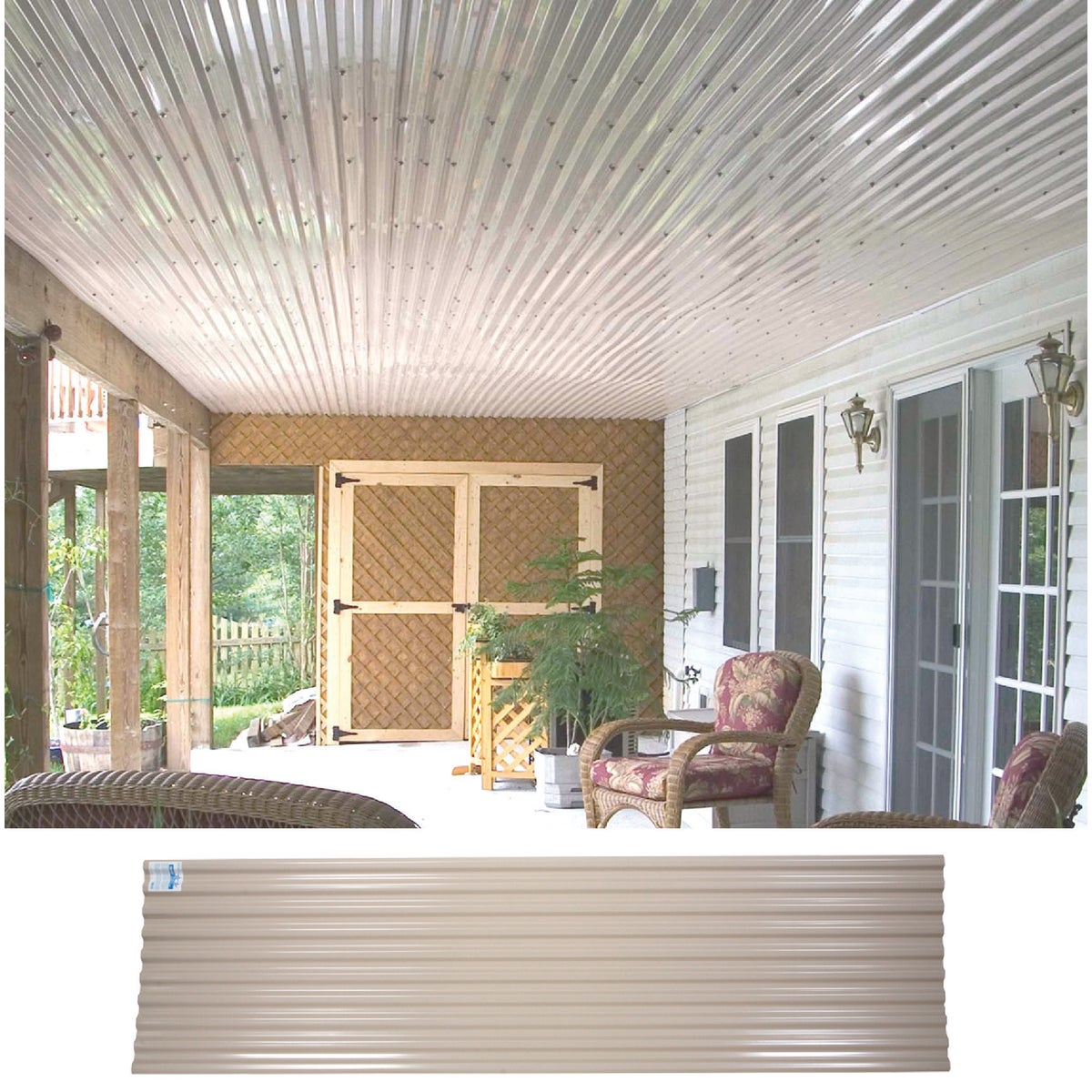 10' TAN CORRUGATED PANEL