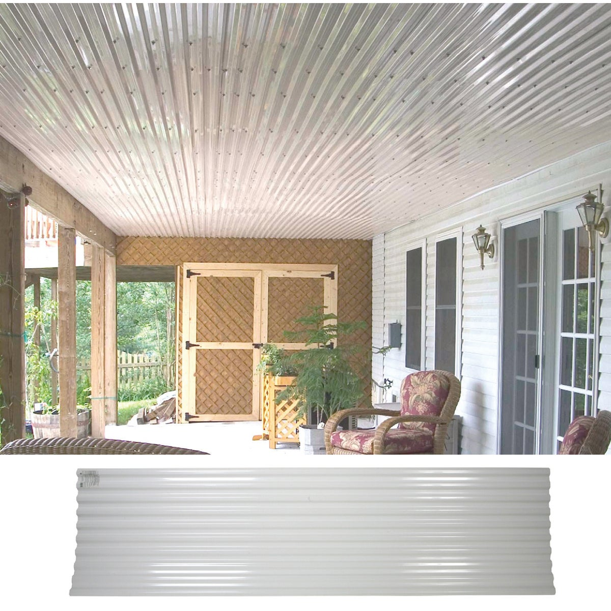 10' WHT CORRUGATED PANEL