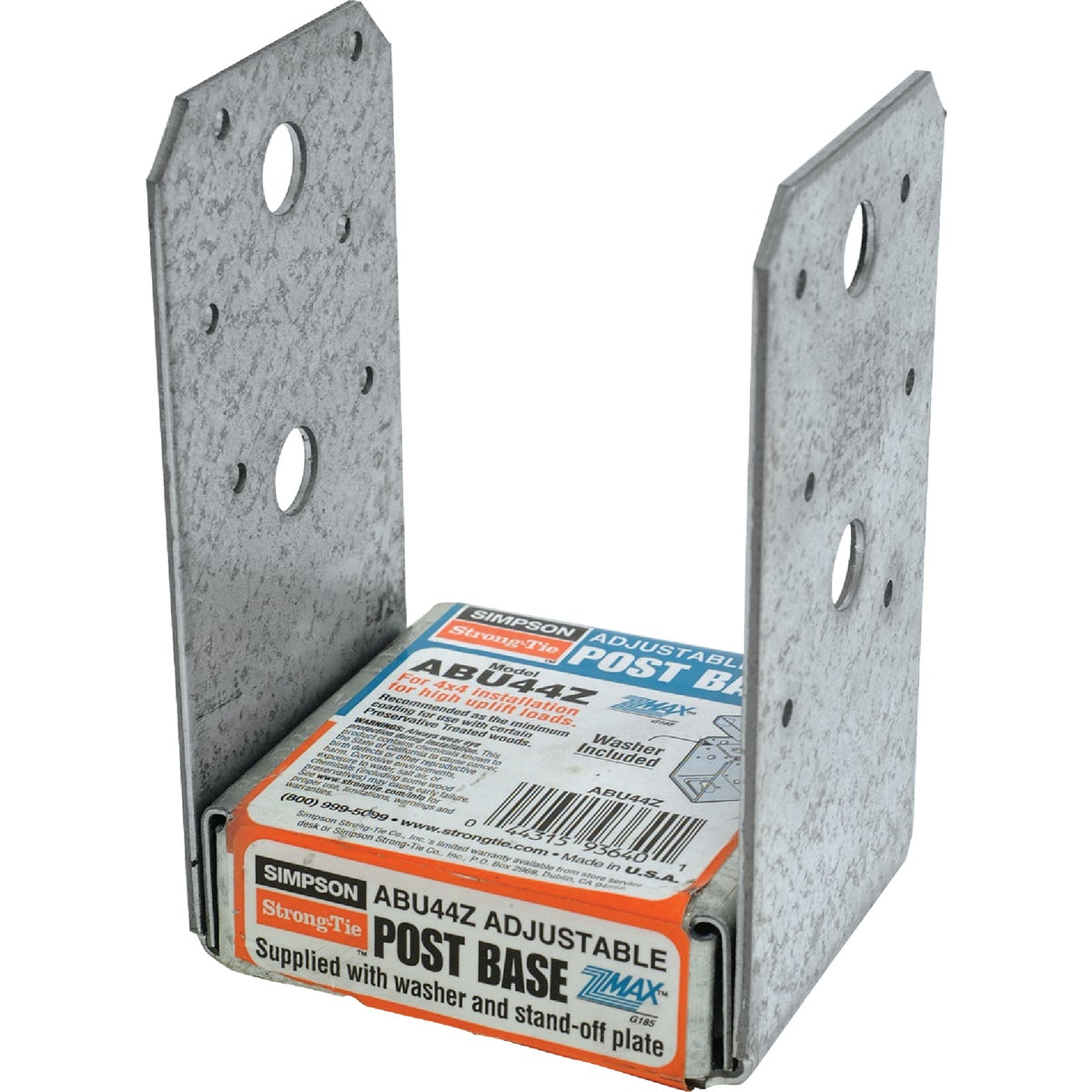 4X4 ADJ POST BASE Z-MAX - ABU44Z by Simpson Strong Tie