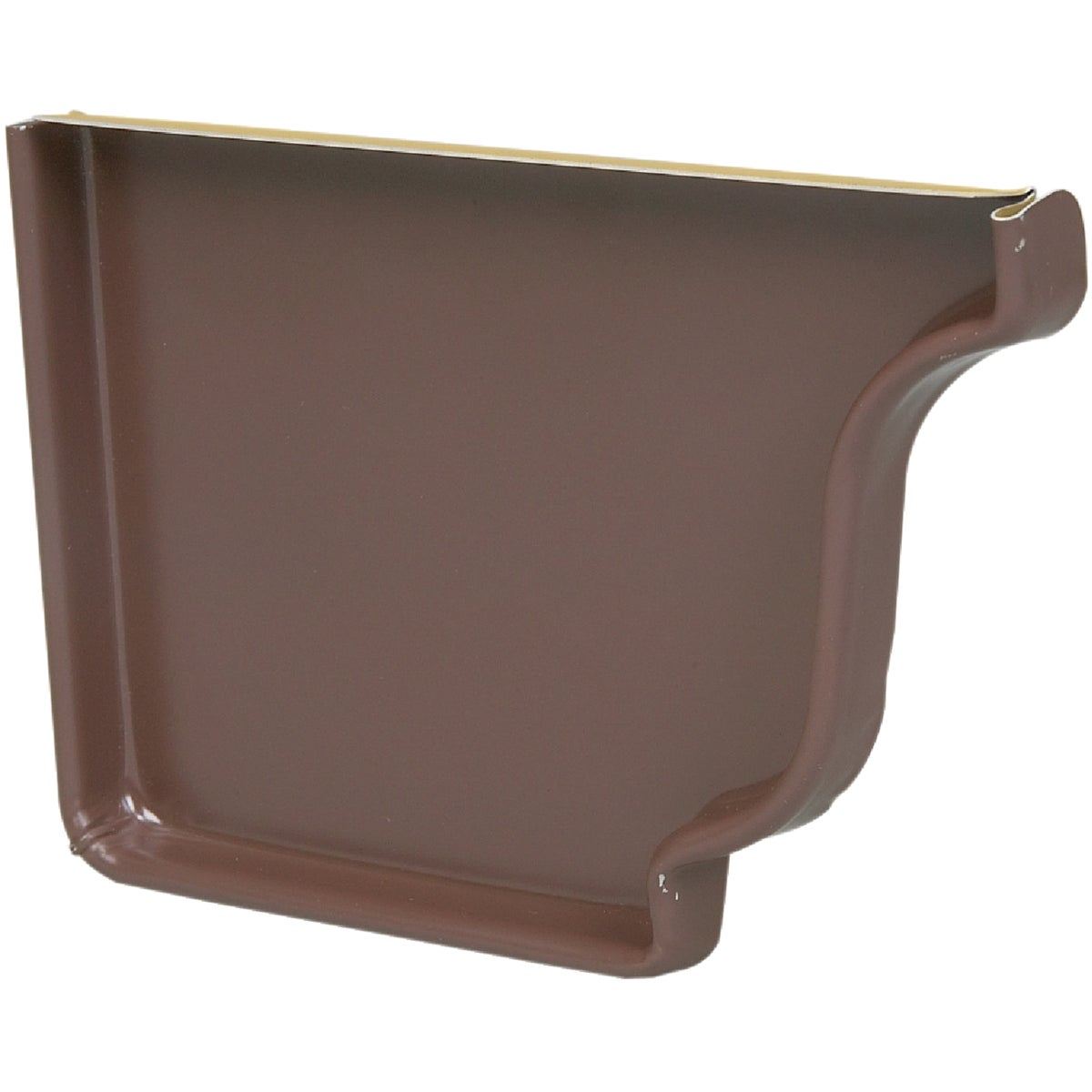 BROWN LEFT END CAP - 2520519 by Amerimax Home Prod