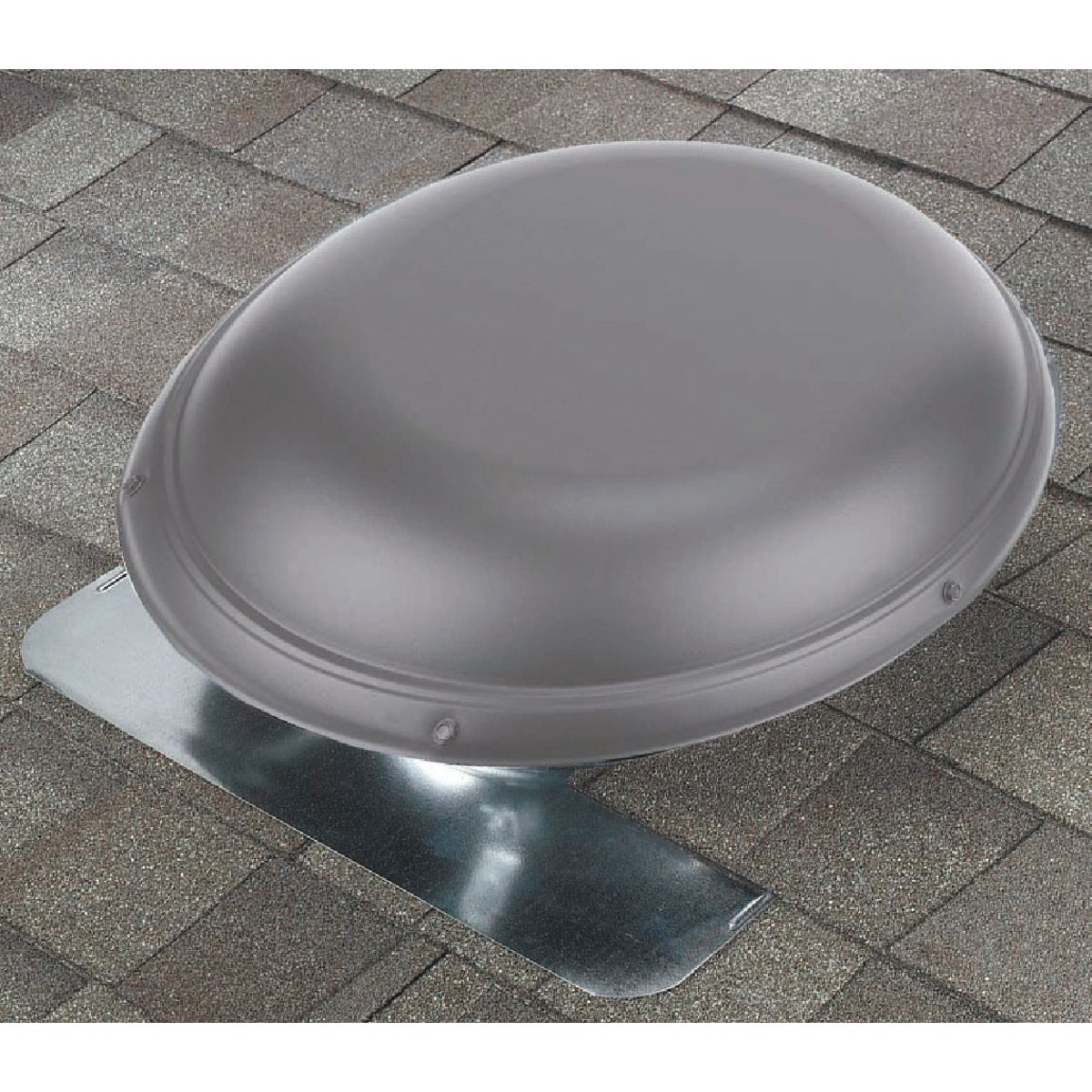 "144"" GRY ALM RND RF VENT - B144MF by Air Vent Inc"