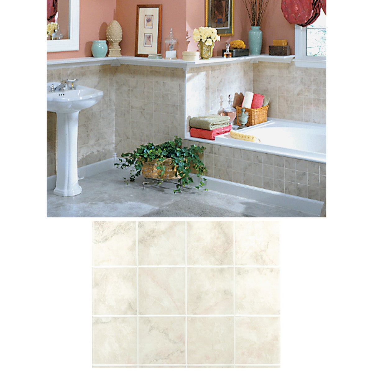 "1/8""MILAN MRBL TILEBOARD - 700 by Dpi Decorative Panel"