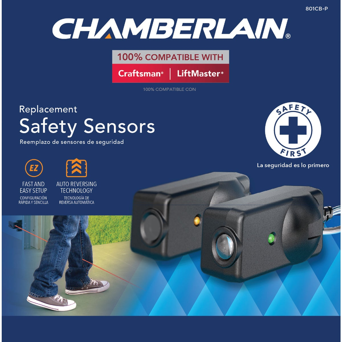 Chamberlain REPLACEMT SAFETY SENSORS 801CB