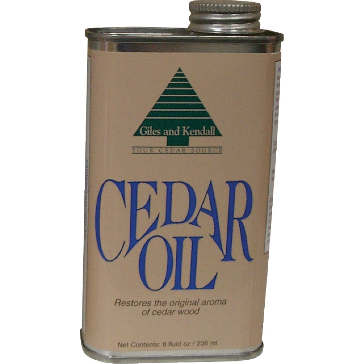 8OZ CEDAR OIL - OIL 12-8 by Giles & Kendall Inc