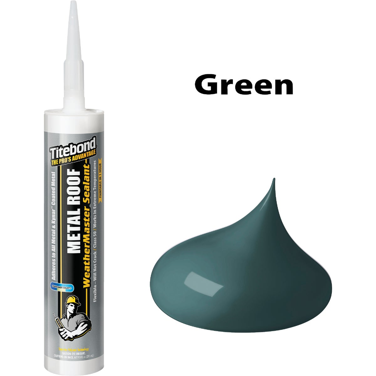 10OZ GREEN METAL SEALANT
