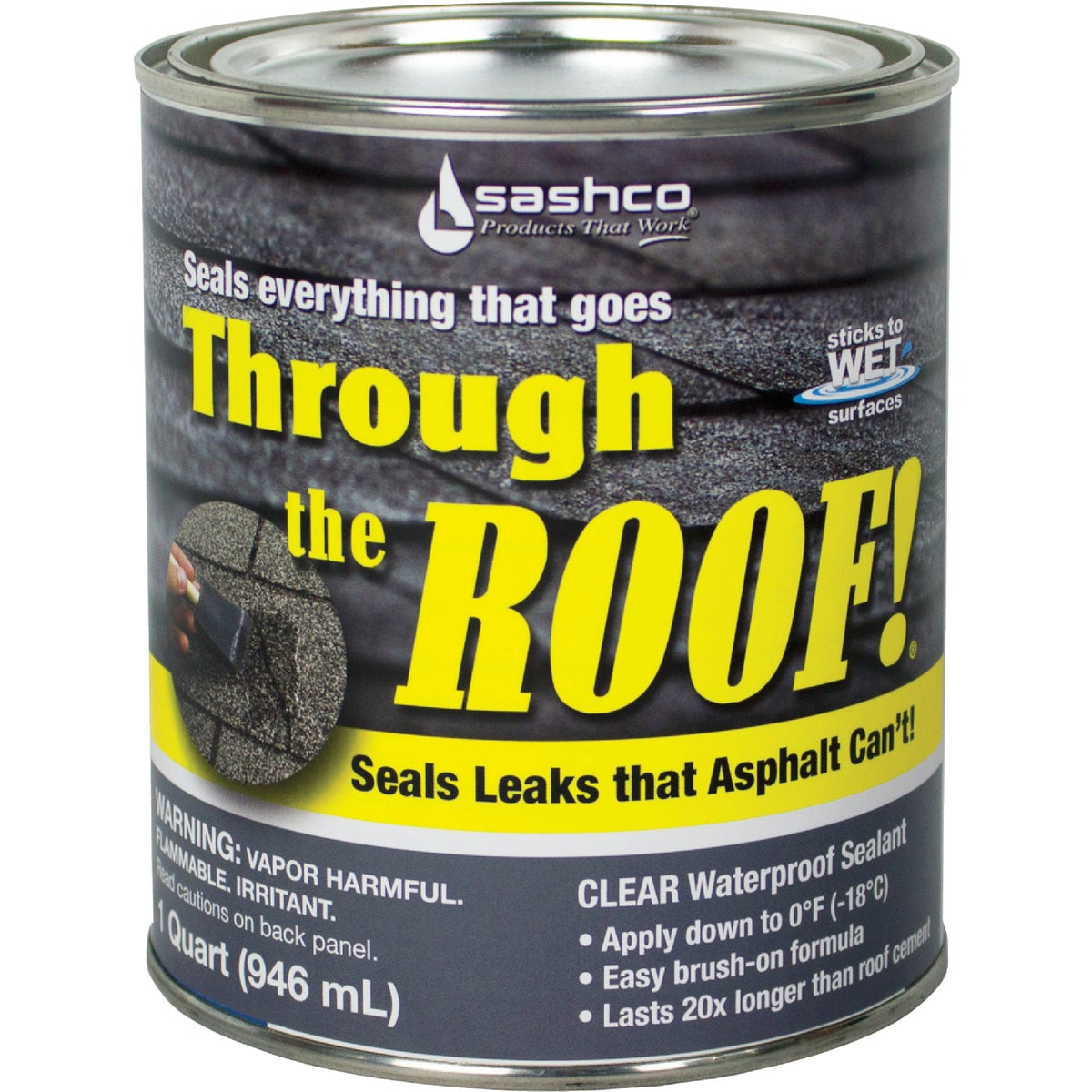 QT VOC CLR ROOF SEALANT - 14023 by Sashco Sealants Inc