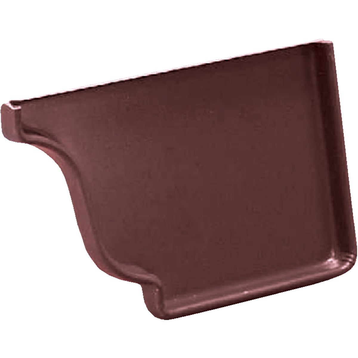 BROWN RIGHT END CAP - 3320619 by Amerimax Home Prod