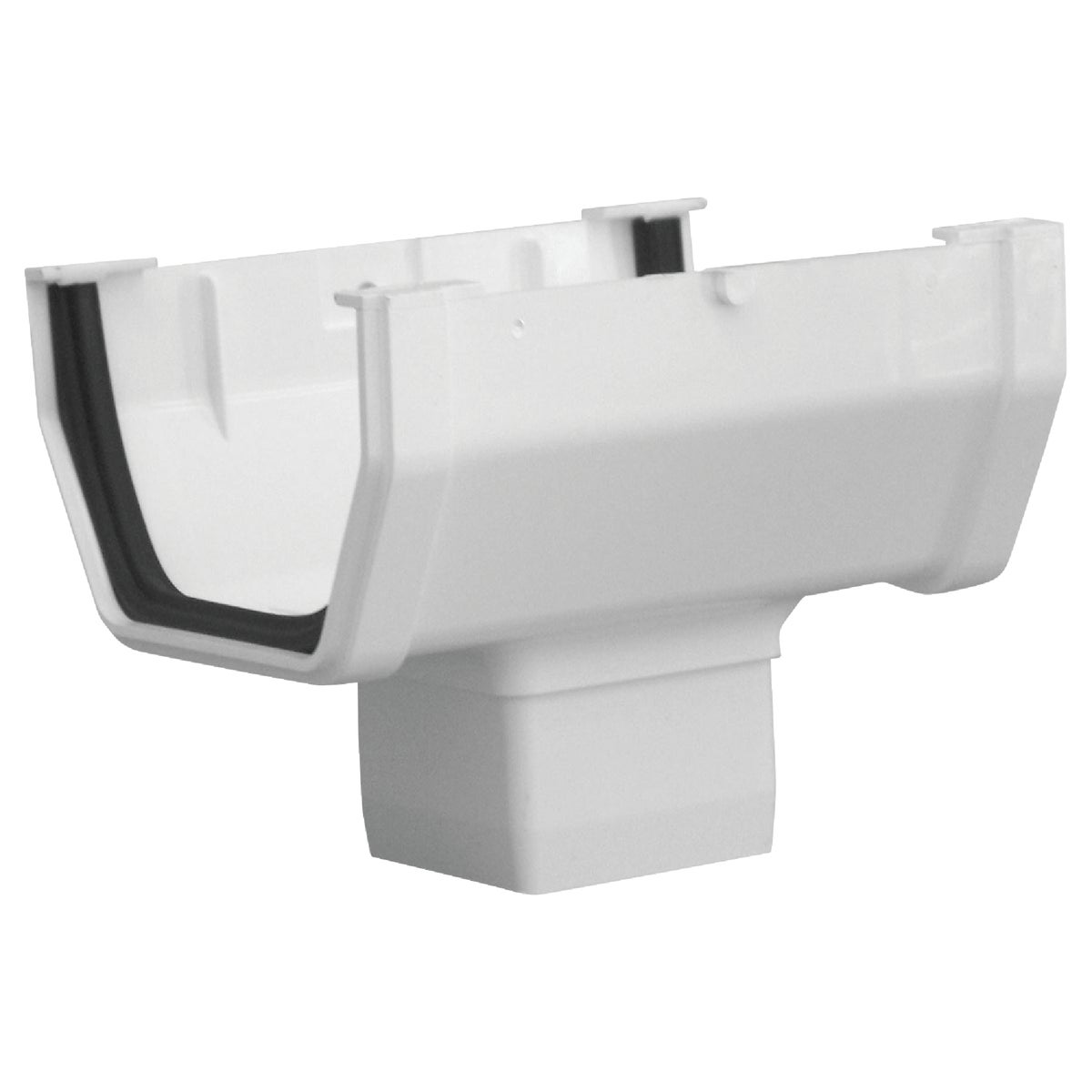 WHT GUTTER DROP OUTLET