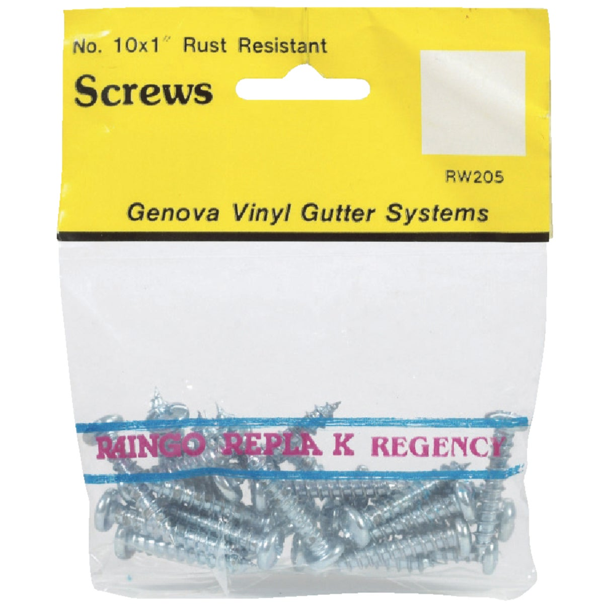 25/BAG RUSTPROOF SCREWS - RW205 by Genova Products