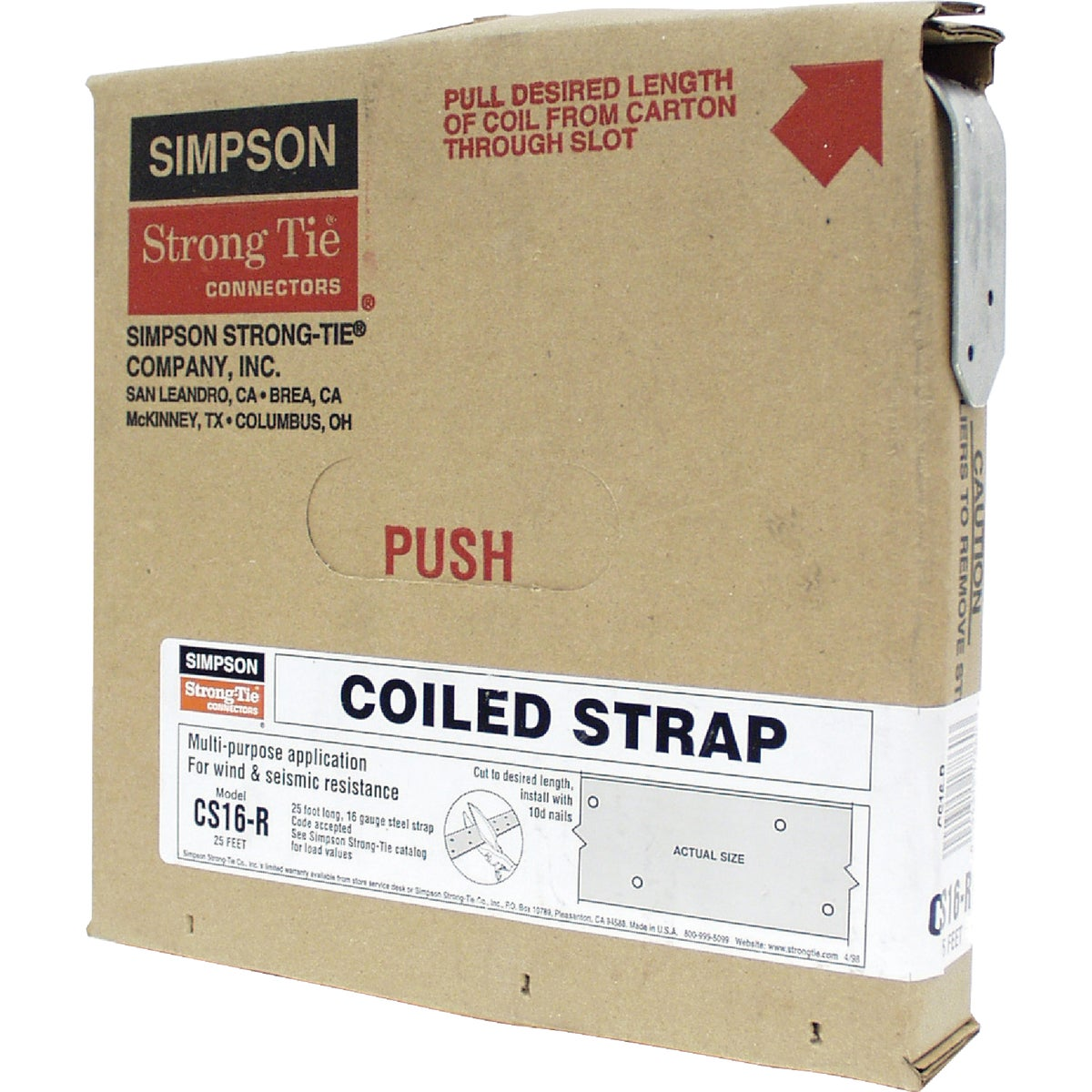 25' 16GA COILED STRAP - CS16-R by Simpson Strong Tie