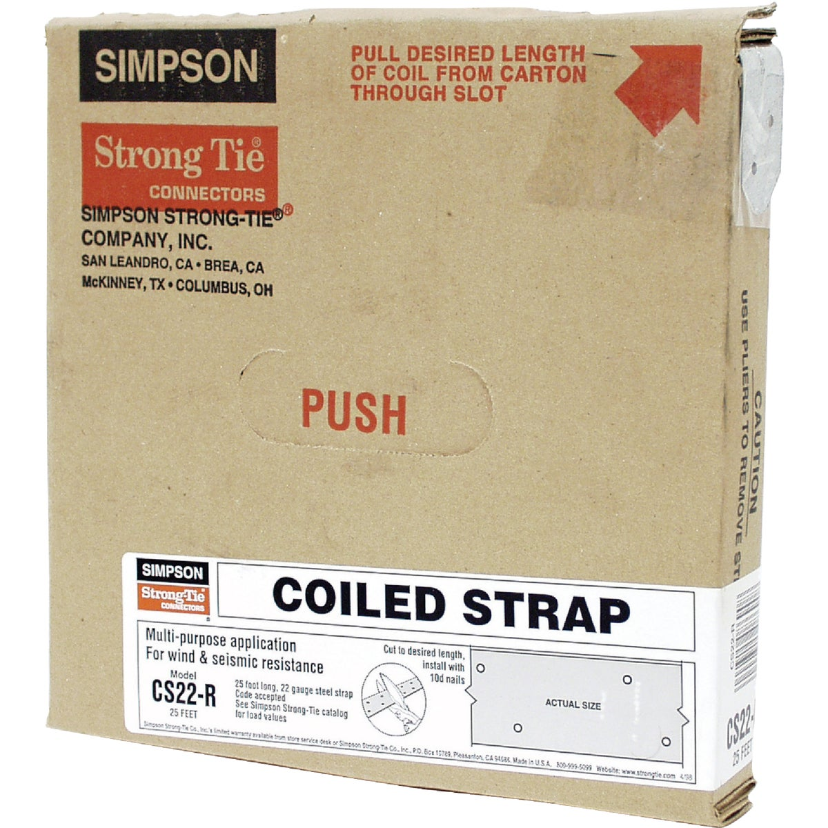 25' 22GA COILED STRAP - CS22-R by Simpson Strong Tie