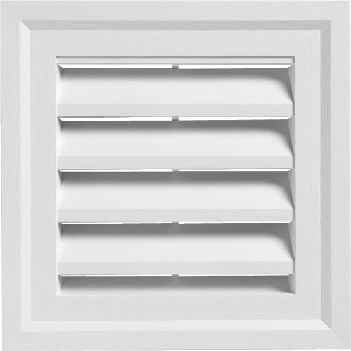 WHITE SQUARE GABLE VENT