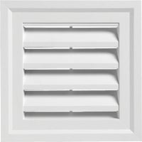Alcoa Home Exteriors WHITE SQUARE GABLE VENT SQGV1414 PW