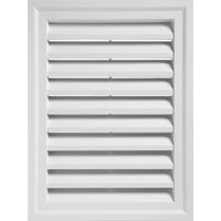Alcoa Home Exteriors WHITE RECTGLE GABLE VENT RECTGV1824 PW