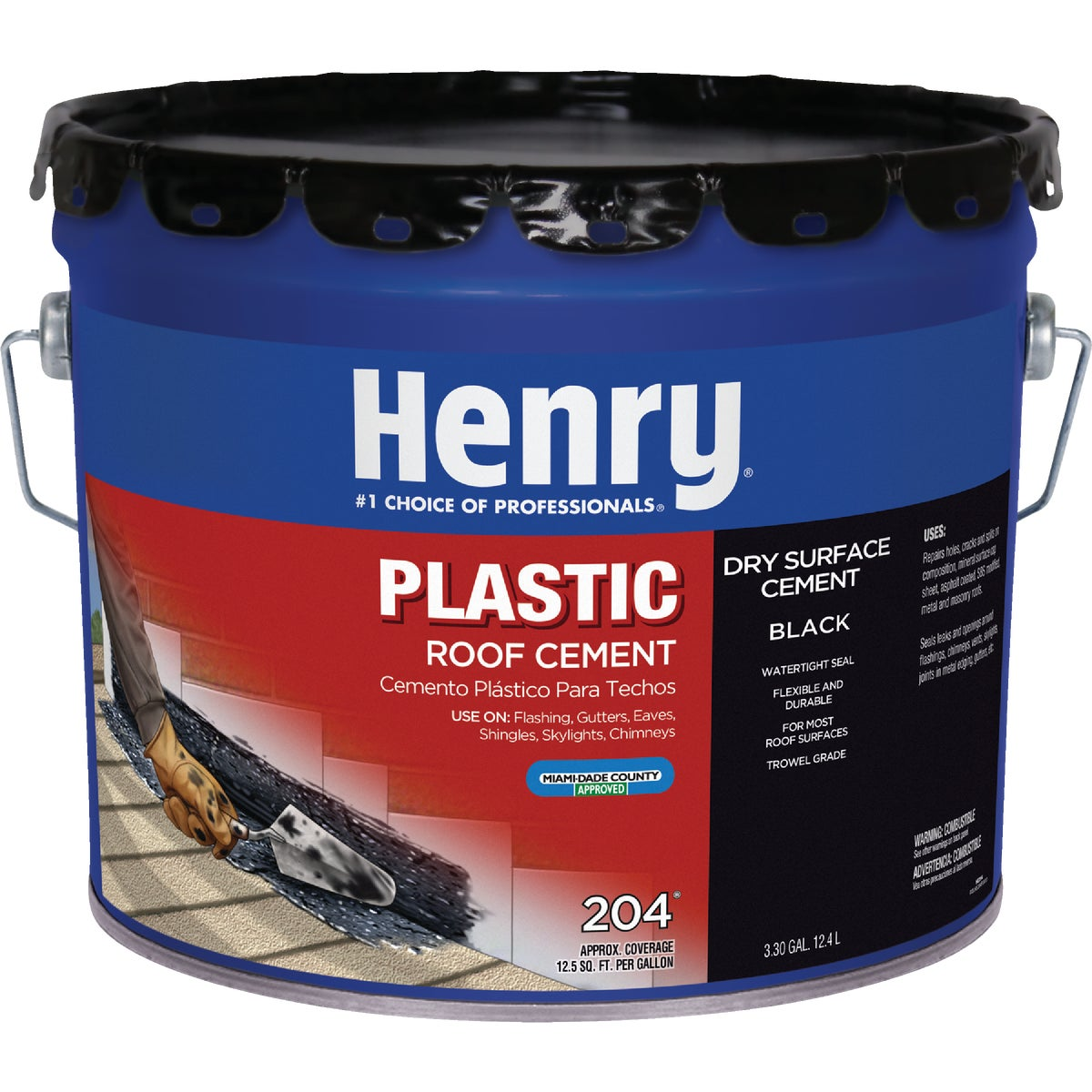 3.5 GAL PLASTIC ROOF CMT - HE204061 by Henry Company