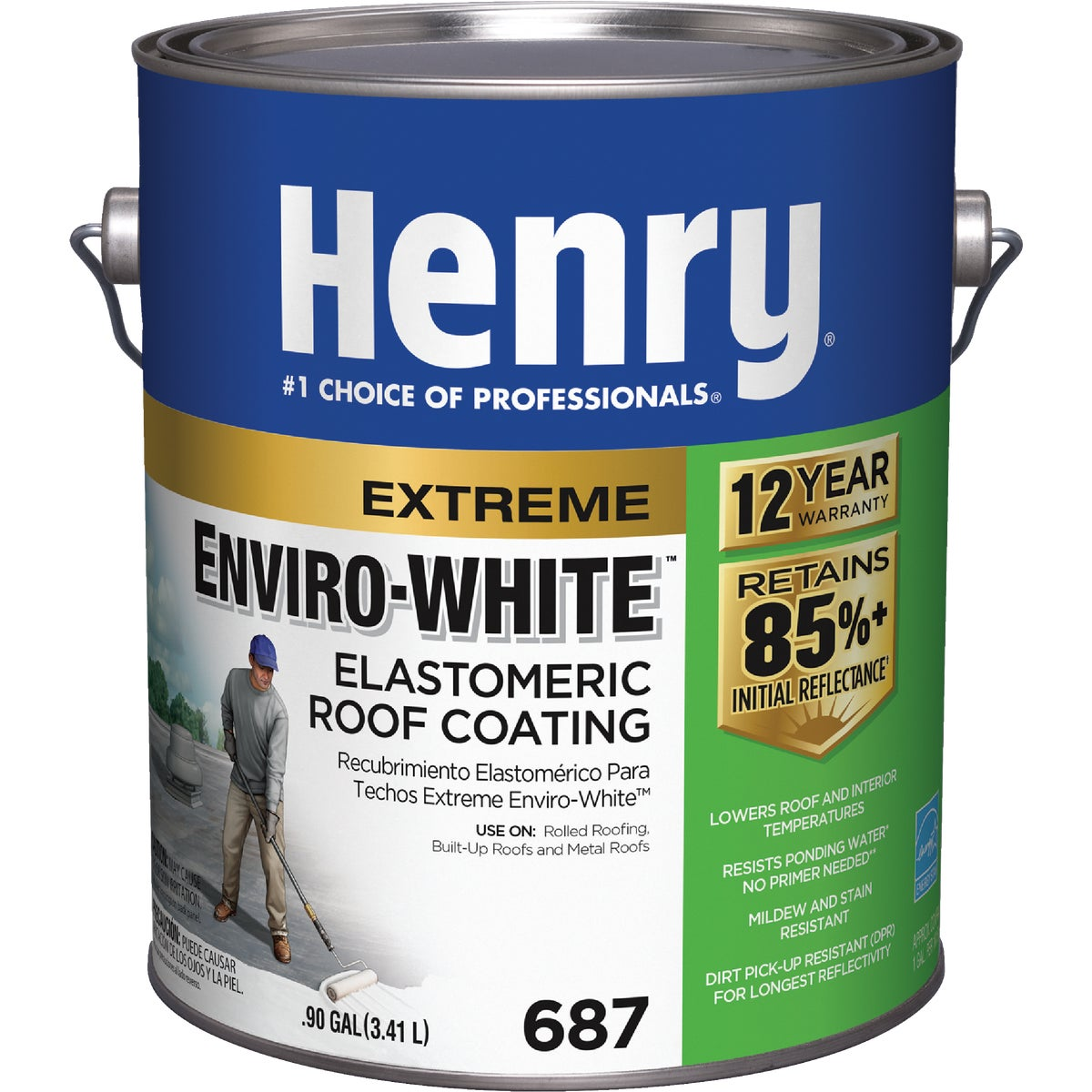 GAL ENVIROWHITE ELASTO - HE687046 by Henry Company