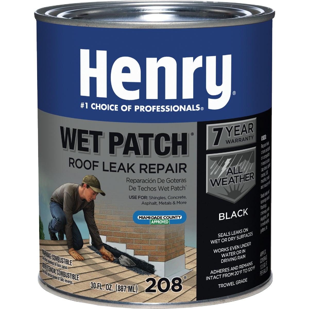 QT WET PATCH ROOF CEMENT - HE208030 by Henry Company