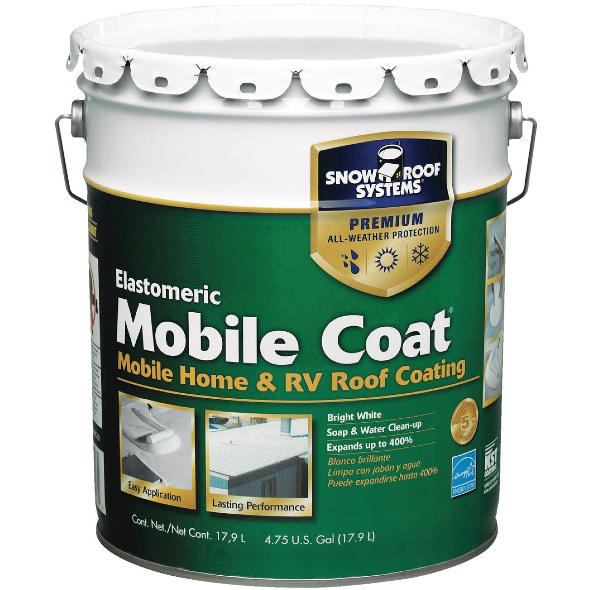 5GAL MOBILE ROOF COATING - MC-5 by Snow Roof