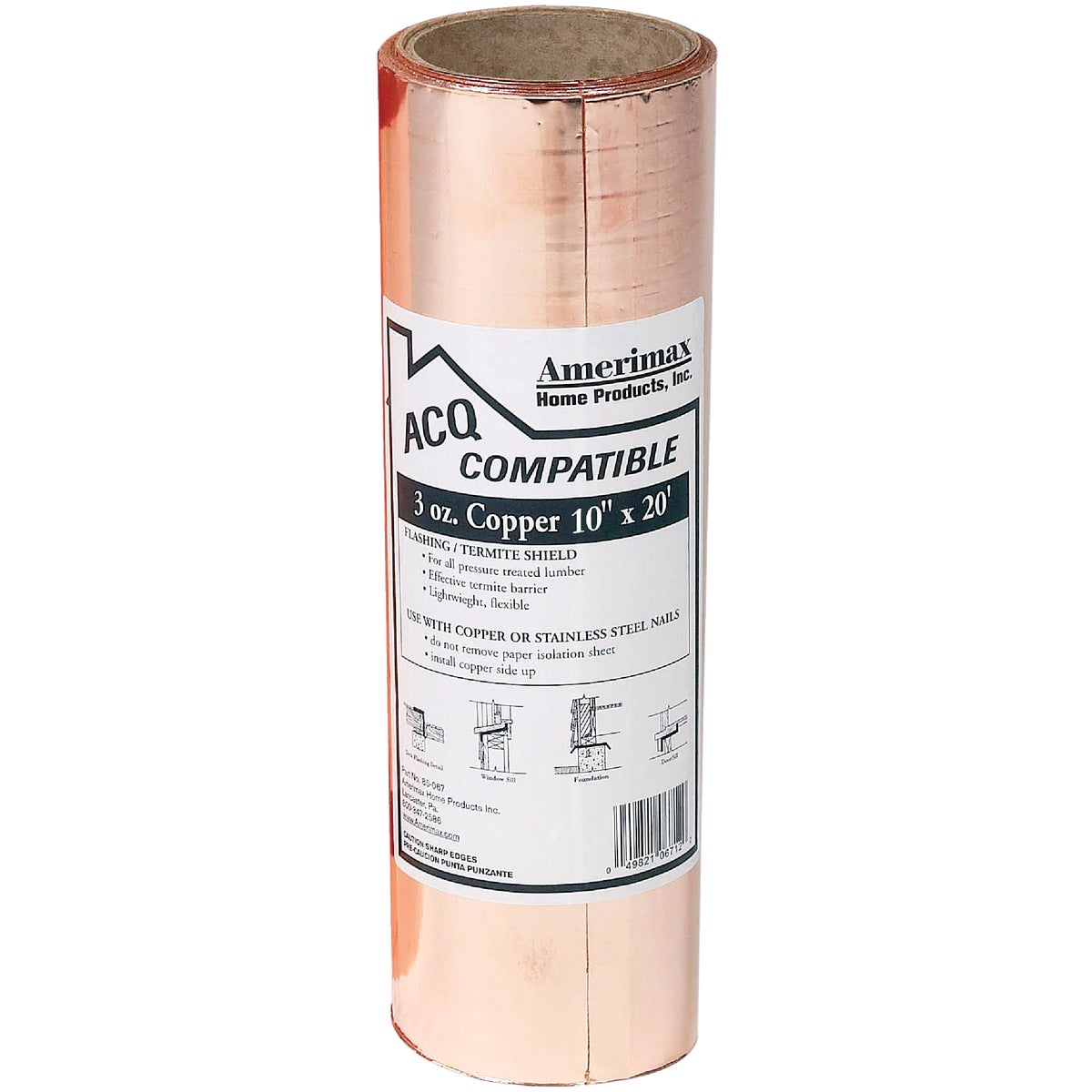 10X20 3OZ COPPER VALLEY - 85067 by Amerimax Home Prod