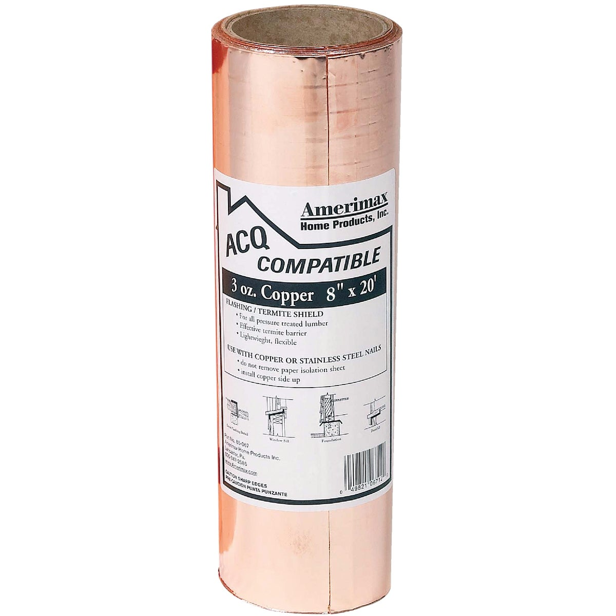 8X20 3OZ COPPER VALLEY - 850678 by Amerimax Home Prod
