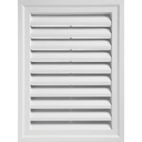 Alcoa Home Exteriors WHITE RECTGLE GABLE VENT RECTGV2430 PW