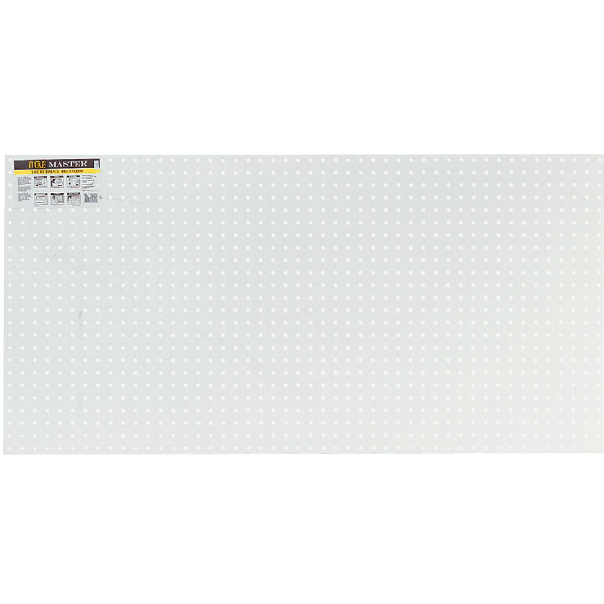 2'X4' Wht Poly Pegboard