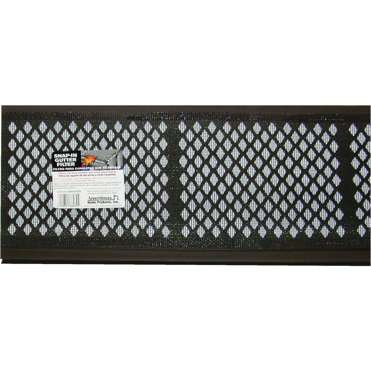 3' BR VYL GUTR GRD W/FLT - 86379 by Amerimax Home Prod