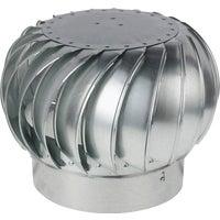 "Ventamatic 12"" Standard Internally Braced Galvanized Wind Turbine Top, CX12IBGVTMIL"