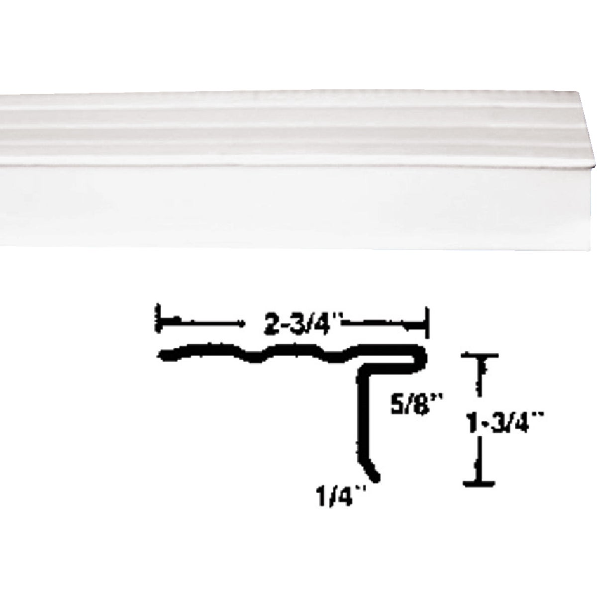 "6""STYLE LL WHT ROOF EDGE - 32690-AJ20 by Klauer Mfg Co"