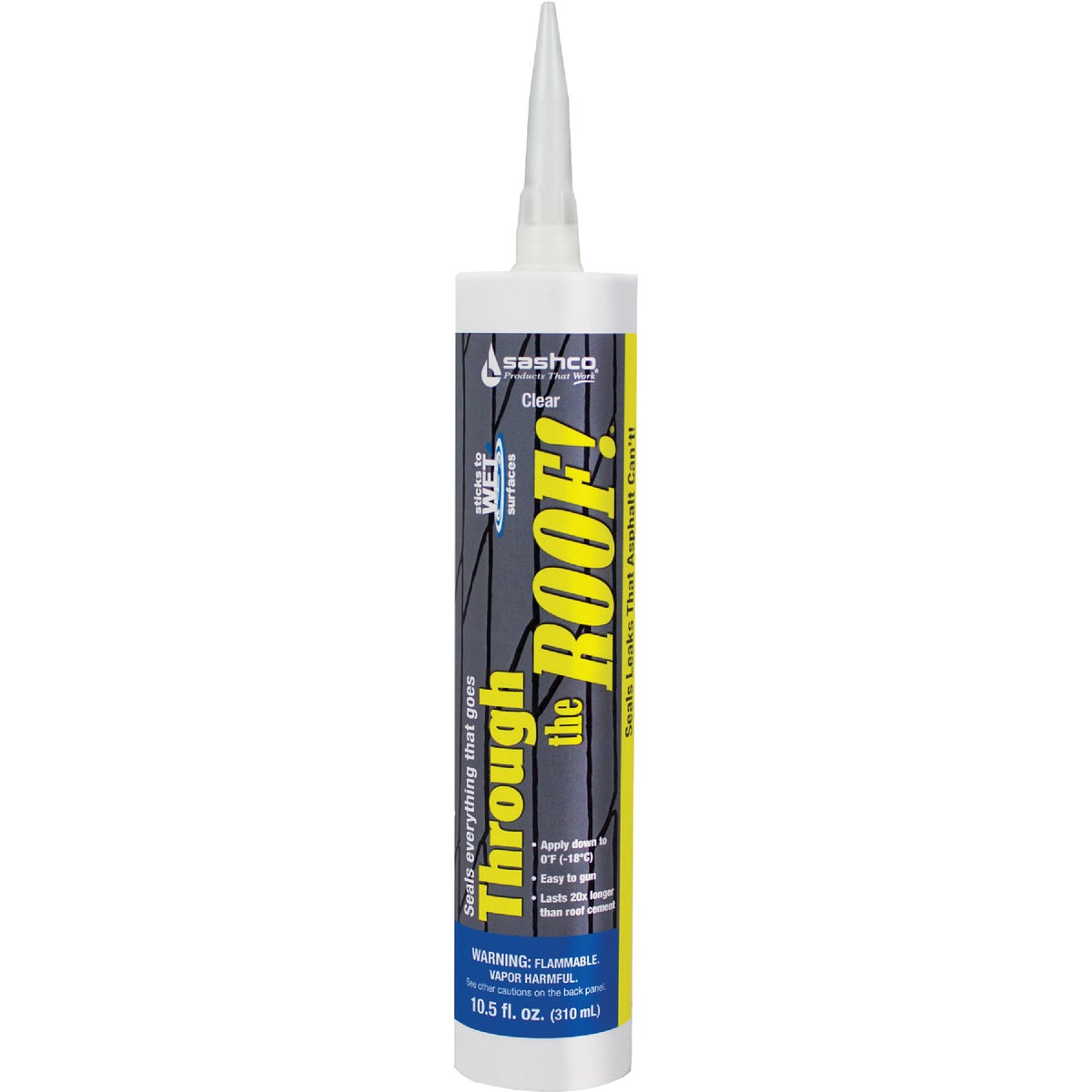 10.5OZ CLR ROOF SEALANT - 14010 by Sashco Sealants Inc
