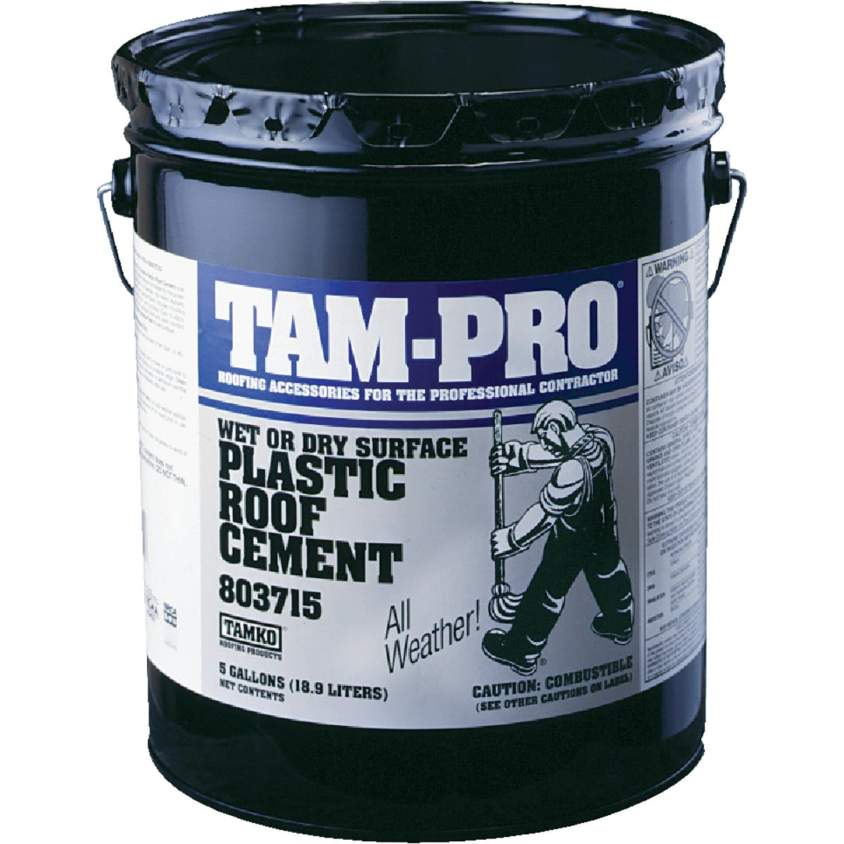 5GAL WET SUR ROOF CEMENT - 30001620 by Tamko Bldg Prod Inc