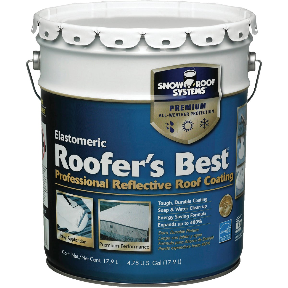 5GAL REFLCT ROOF COATING - RB-5 by Snow Roof
