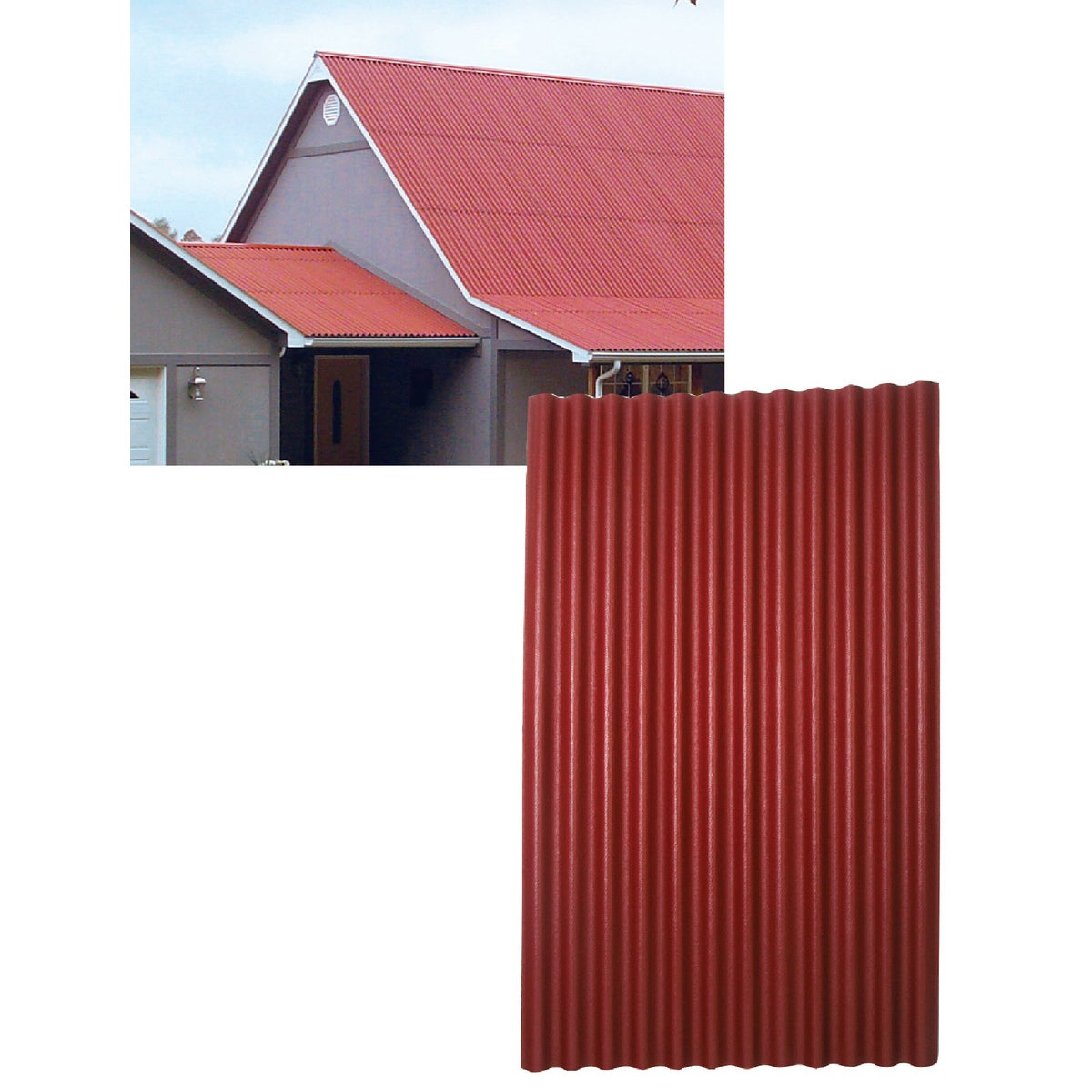 48X79 RED ONDURA ROOFING - 153 by Ofic North America