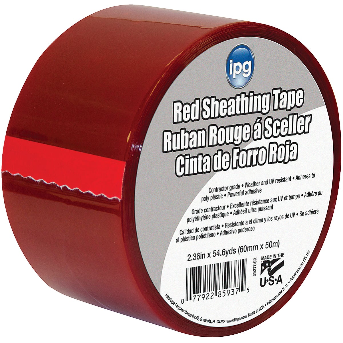 "2-1/2""RED SHEATHING TAPE"