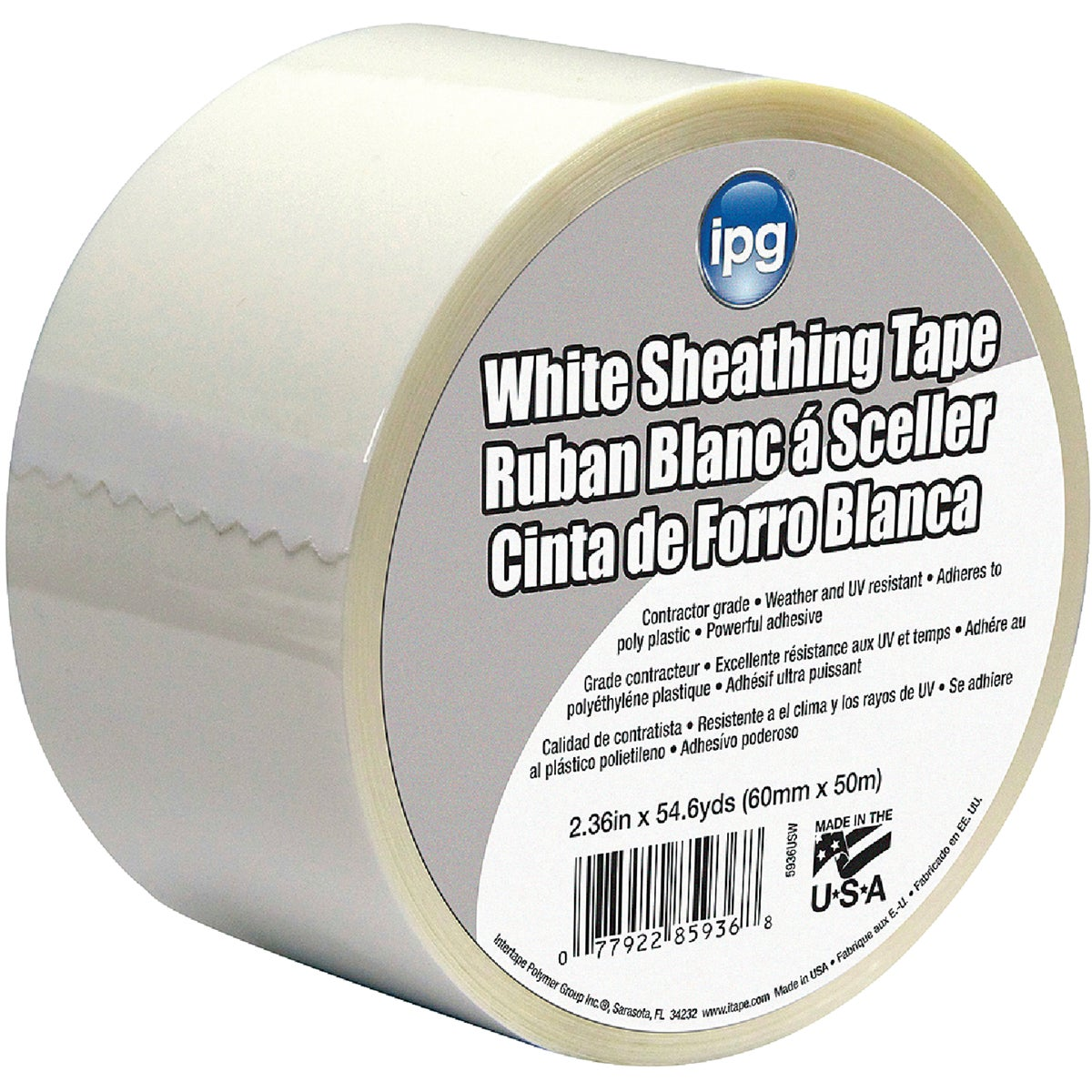 "2-1/2""WHT SHEATHING TAPE - 5936USW by Intertape Polymer"
