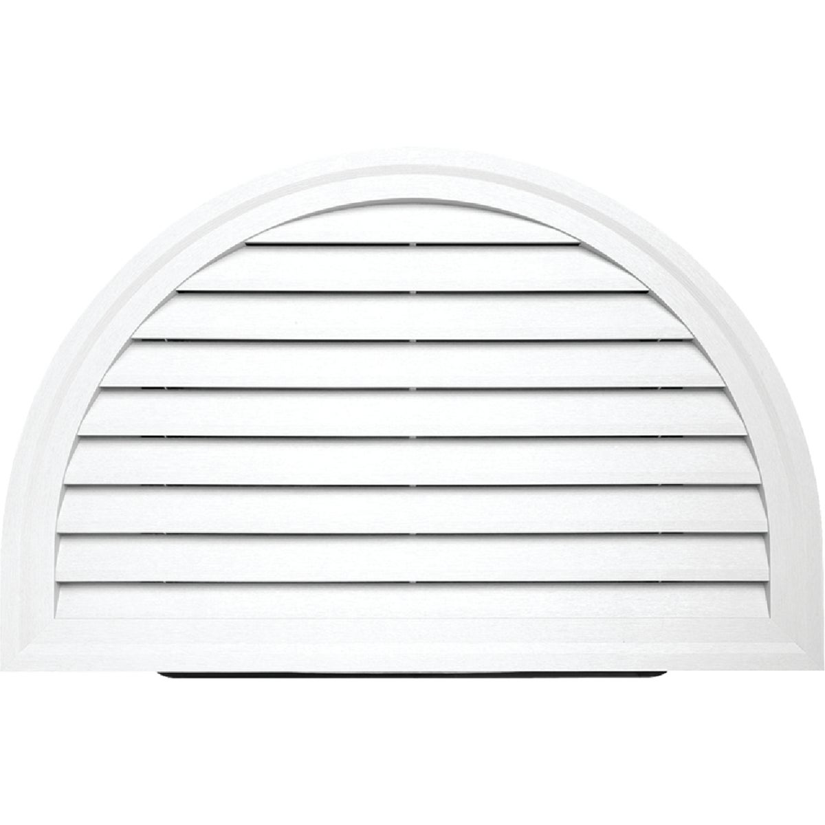 WHT HALF/RND GABLE VENT - HRDGV PW by Alcoa Home Exteriors