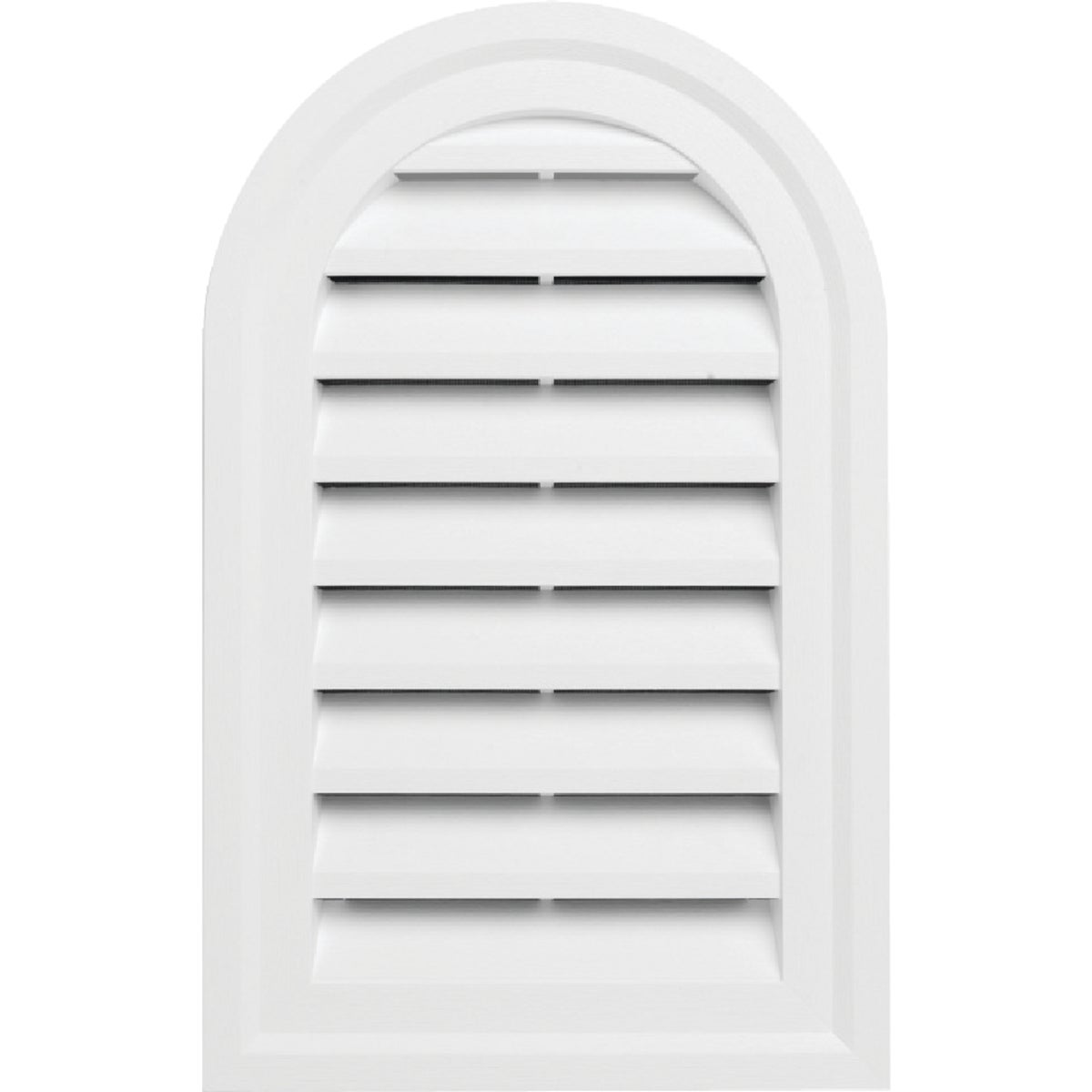 WHT RND/TOP GABLE VENT - RDTOPGV14 PW by Alcoa Home Exteriors