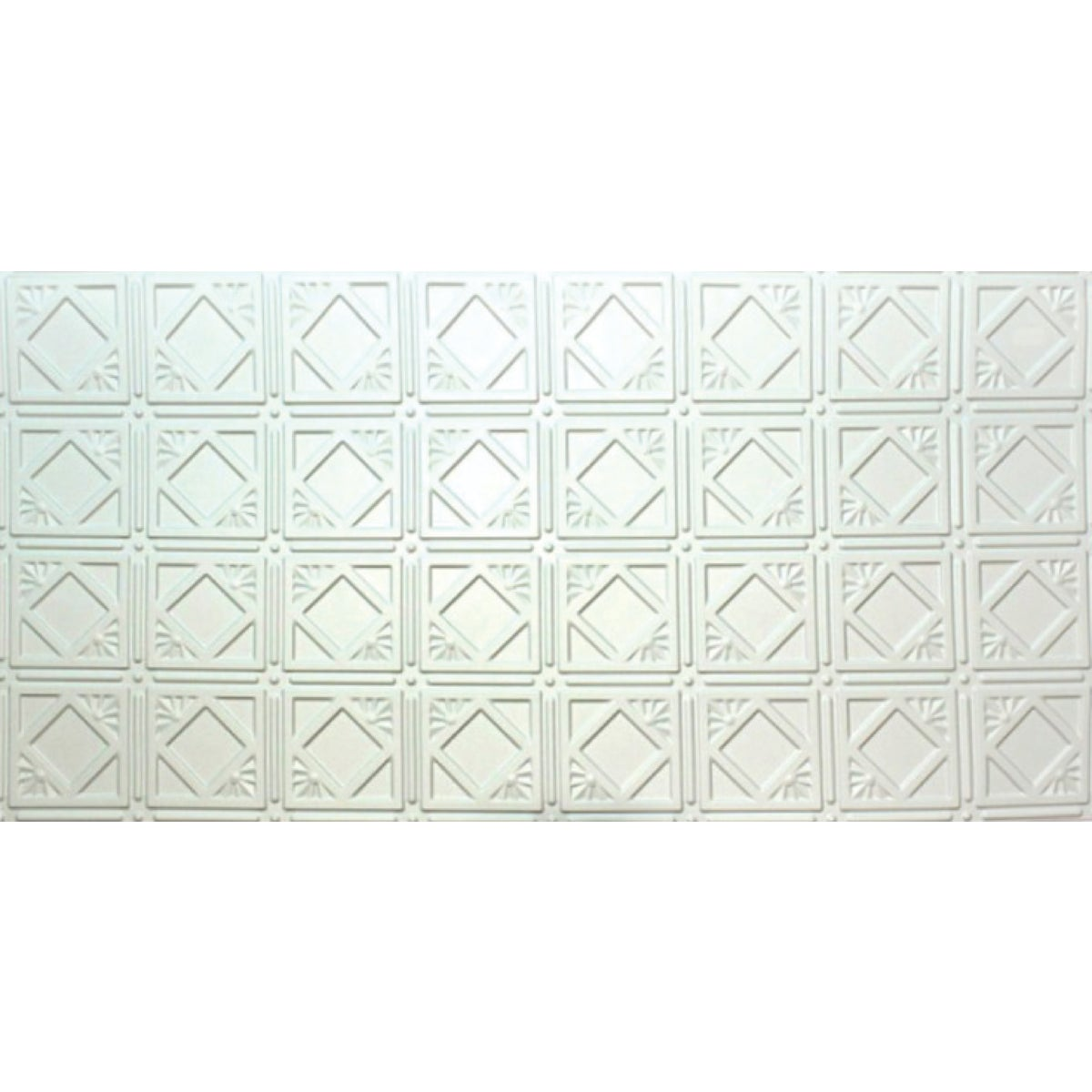2X4 WHITE TIN-LOOK PANEL
