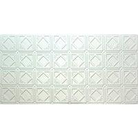 2X4 White Tin-Look Panel
