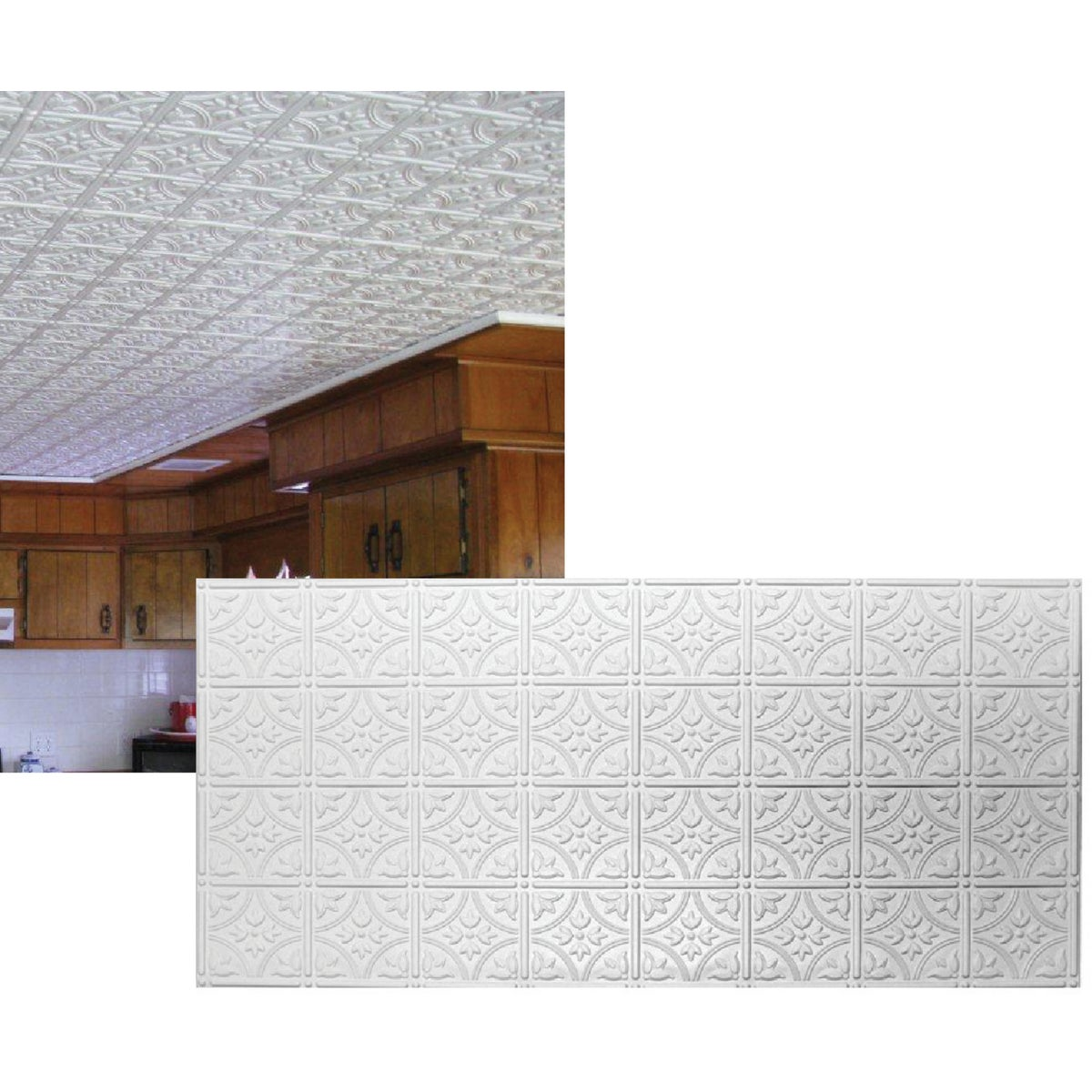 2X4 WHITE TIN-LOOK PANEL - 209 by Global Specialty Pro