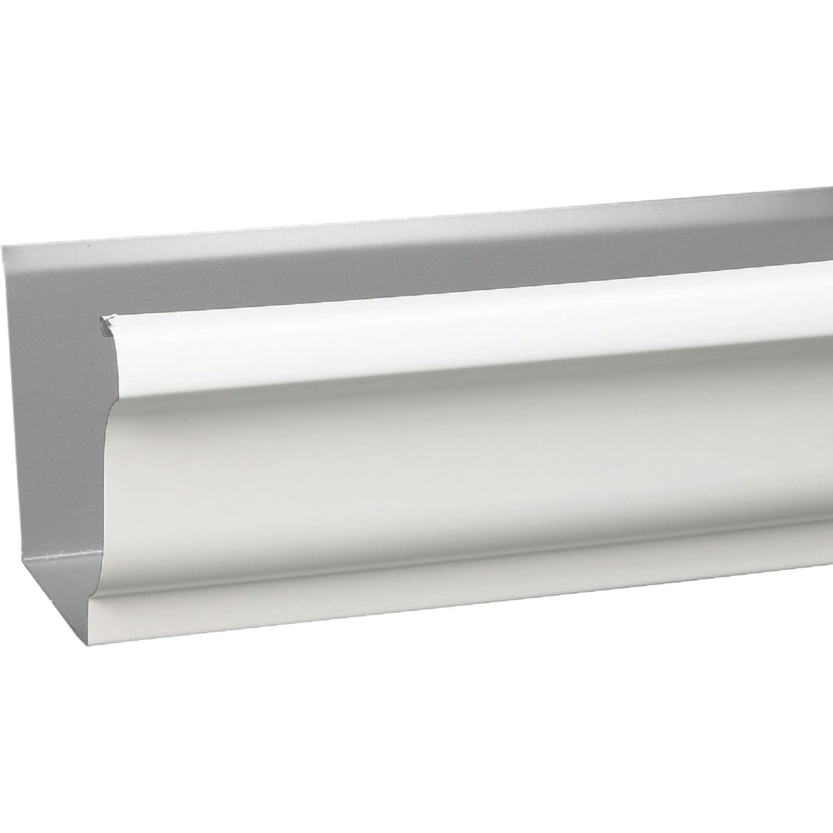 "4"" WHITE STEEL GUTTER - 1800700120 by Amerimax Home Prod"